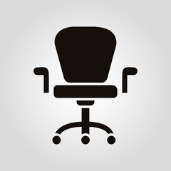 Office chair isolated vector flat icon