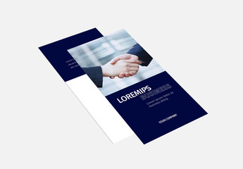 Tri-Fold Brochure Layout with Blue Accents 2