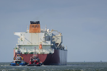 MARITIME TRANSPORT - LNG tanker sails into the sea