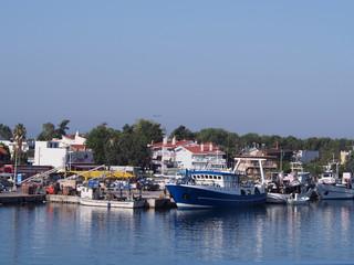 Widok na port greckiej wyspy Thassos
