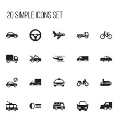 Set Of 20 Editable Shipment Icons. Includes Symbols Such As Auto, Cycle, Car Vehicle And More. Can Be Used For Web, Mobile, UI And Infographic Design.