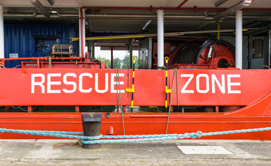 rescue zone of a ship