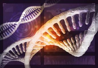 DNA molecules background