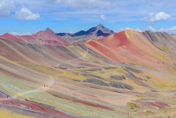 Vinicunca, also known as Rainbow Mountain, near Cusco, Peru