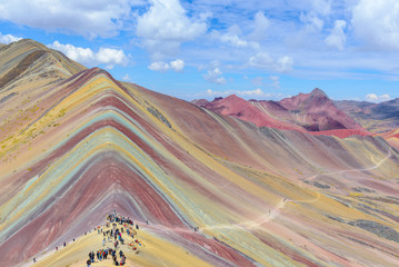 Poster Vinicunca, also known as Rainbow Mountain, near Cusco, Peru