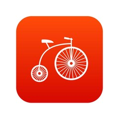 Penny-farthing icon digital red