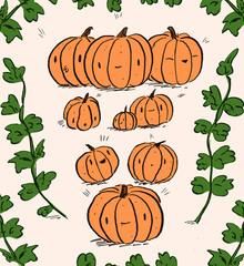 Cute Pumpkins Illustration
