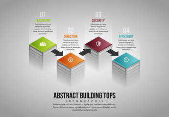 Abstract Building Topper Infographic
