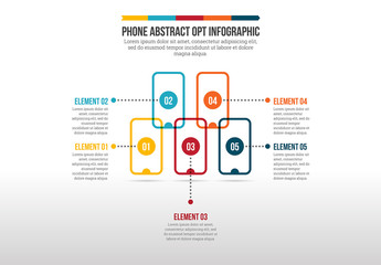 Mobile Phone Abstract Opt Infographic