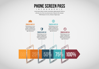 Mobile Phone Screen Pass Infographic