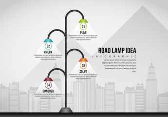Road Lamp Idea Infographic