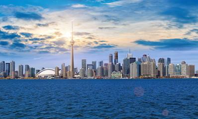 Toronto skyline from Ontario lake