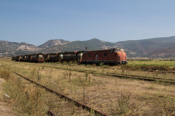 Abandoned czech railway train left in Albania for decay and corrosion