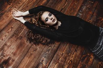 girl on a floor
