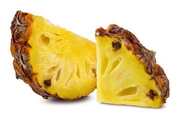 Fresh pineapple isolated on white