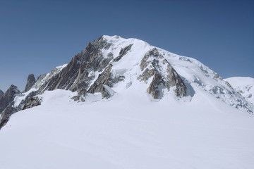 Mont blanc, the highest mountain of Europe.