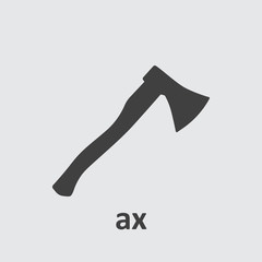Axe icon flat.
