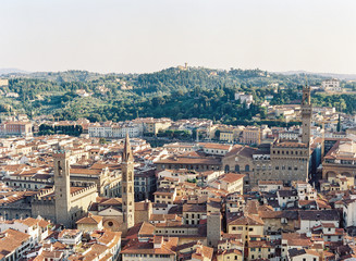 View of Florence Italy from the Duomo di Firenze