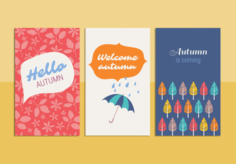 Autumn Greeting Card Set 3