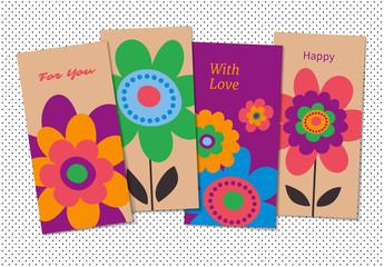 Floral Greeting Card Set 1