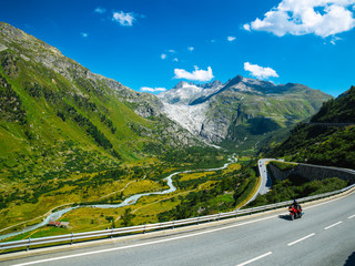 Serpentine mountain road
