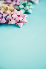 Christmas Gifts Decorative Sparkling Matte Star Bows