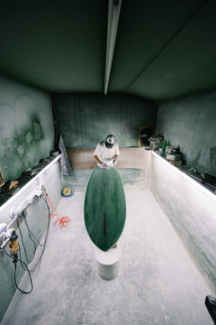 Surfboard production