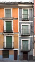 Colorful mediterranean facade
