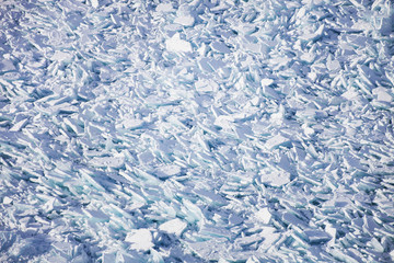 Ice field of hummocks on Lake Baikal