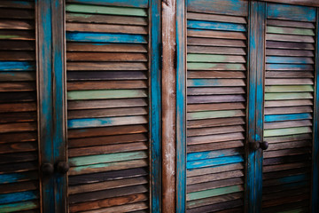 Wooden colored wardrobe