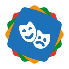 App Icon bunt - Kultur - Theater - Schauspiel - Masken