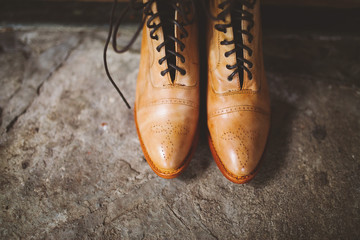 rustic leather boots