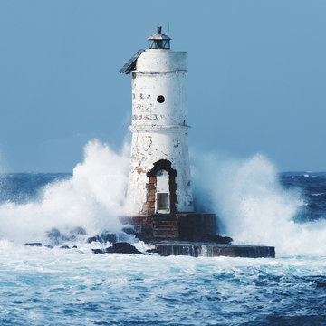 Old Lighthouse in the storm