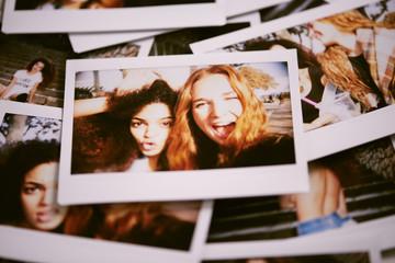 Heap of instant photos of best friends