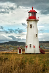 LIghthouse in Magdalen island in Canada