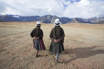 Traditionally Dressed Peruvian women. Peru.