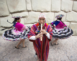 Traditional Peruvian Dancers. Peru
