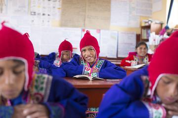 Traditional Peruvian School. Cusco. Peru.
