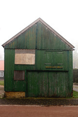 Decorative old wooden shed