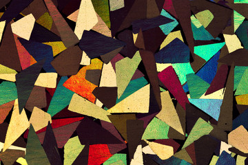Macro of shiny decorative paper