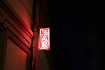 Illuminated signboard 'bar'