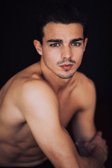 Closeup portrait of a young male