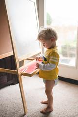 Artist in a diaper