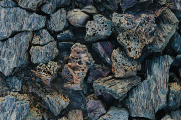 Close up volcanic rock, Craters of the Moon, Idaho, USA