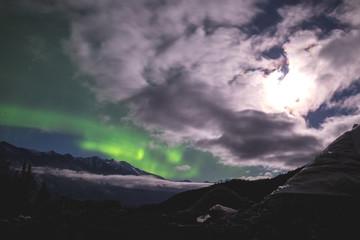 Aurora Borealis Clouds Knik