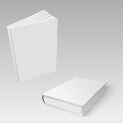 Blank of book for your design. Mock up. Vector