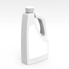 Blank detergent bottle mockup