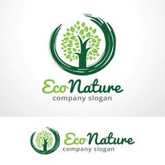 Eco Nature Logo Template Design Vector, Emblem, Design Concept, Creative Symbol, Icon