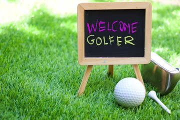 Welcome to golfer
