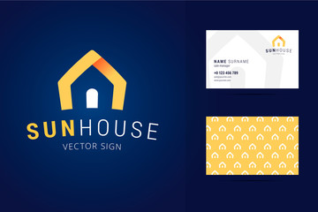 Real estate logo and business card template.